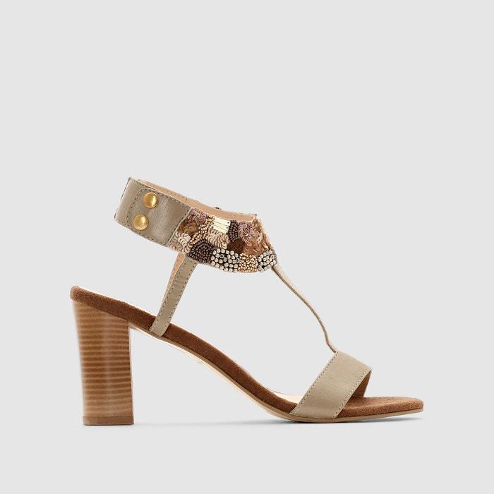 Image Sandales bijoux cuir ANNE WEYBURN