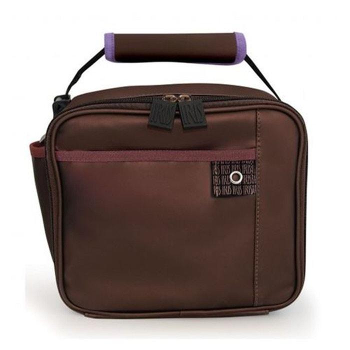 lunch box isotherme iris valisette chocolat marron iris la redoute. Black Bedroom Furniture Sets. Home Design Ideas