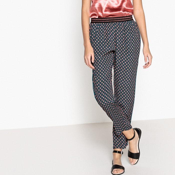 Janice Printed Straight Trousers  SUNCOO image 0