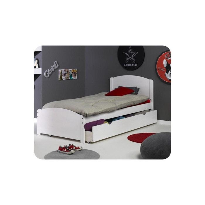 pack lit enfant nature 90x200 cm avec sommier et matelas ma chambre d 39 enfant la redoute. Black Bedroom Furniture Sets. Home Design Ideas