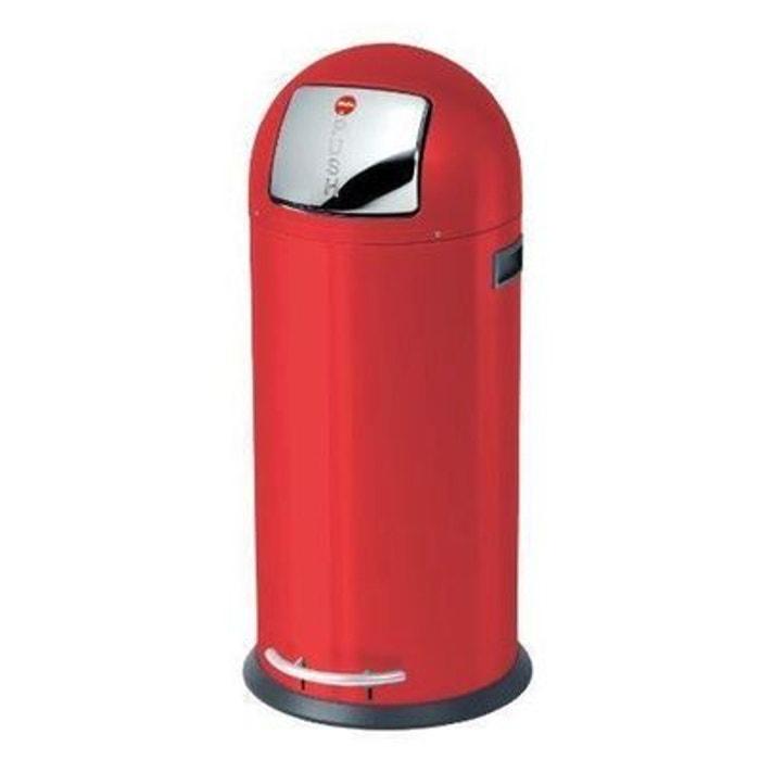 poubelle 50 litres rouge hailo kickmaxx hailo la redoute. Black Bedroom Furniture Sets. Home Design Ideas