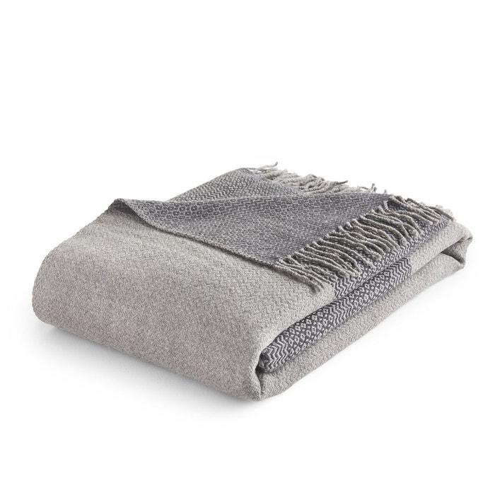 plaid pure laine sivalia gris am pm la redoute. Black Bedroom Furniture Sets. Home Design Ideas