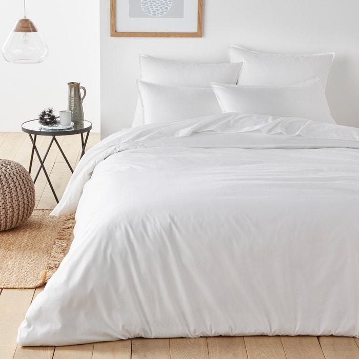 capa de edredon em percal de algod o biol gico la redoute. Black Bedroom Furniture Sets. Home Design Ideas