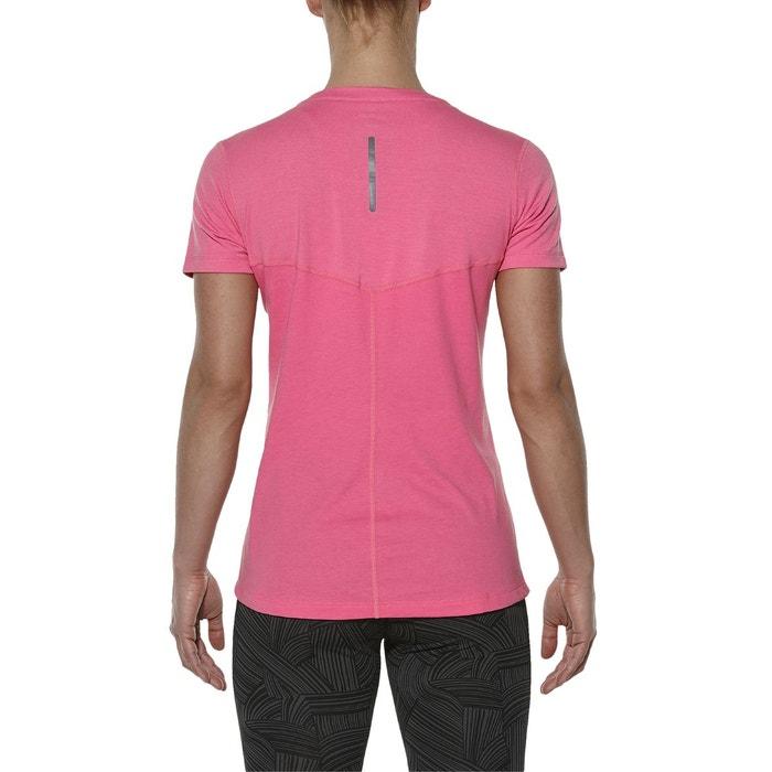 asics t shirt fille rose