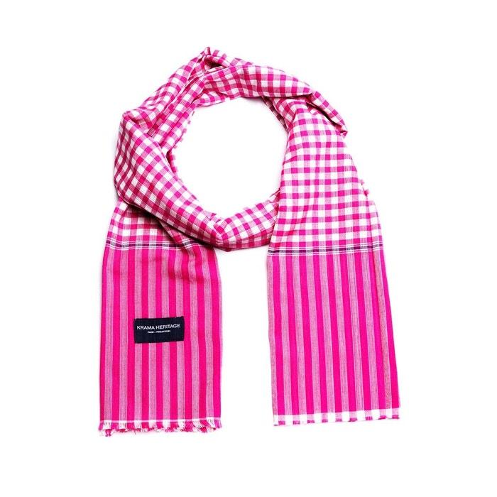 b5bdeec9b482 Foulard petit krama bonbon rose Krama Heritage   La Redoute Acheter Pas  Cher Livraison Gratuite jfEux8