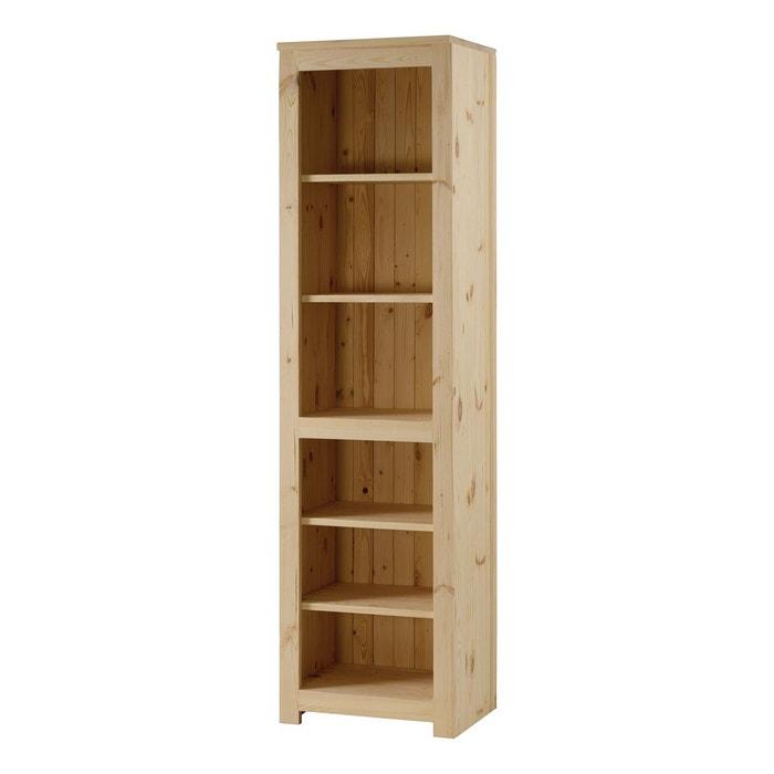 biblioth que colonne pin massif brut 4 tag res matendance beige couleurs des alpes la redoute. Black Bedroom Furniture Sets. Home Design Ideas