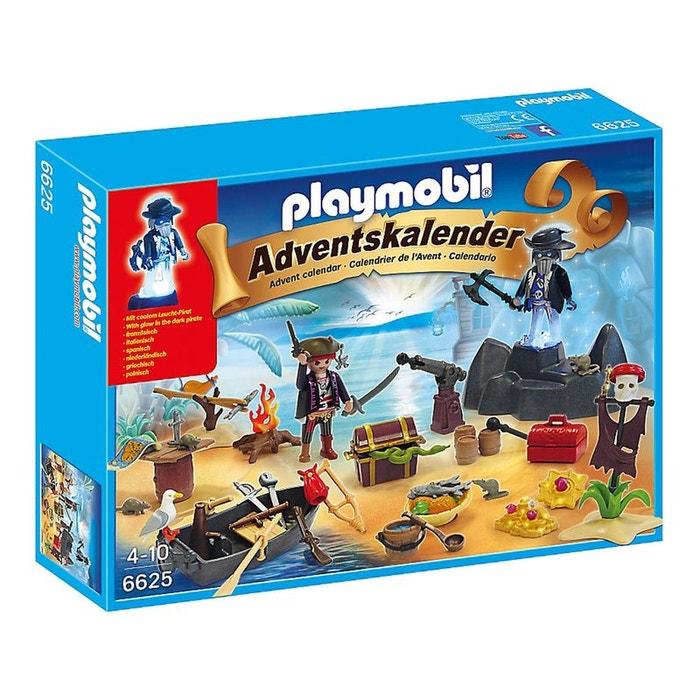 Calendrier de l 39 avent ile des pirates pla6625 couleur uniqu - La redoute playmobil ...