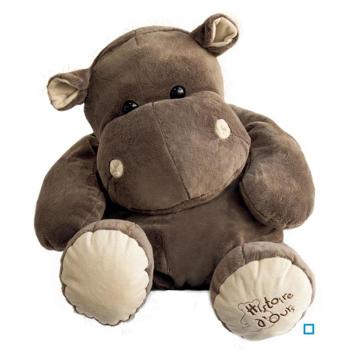 ff89b5bc64aff9 Peluche géante hippopotame 80 cm marron Doudou Et Compagnie   La Redoute