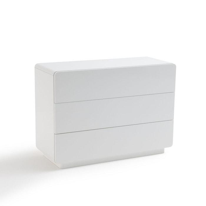 Commode 3 tiroirs newark blanc la redoute interieurs la redoute - Commode la redoute ...