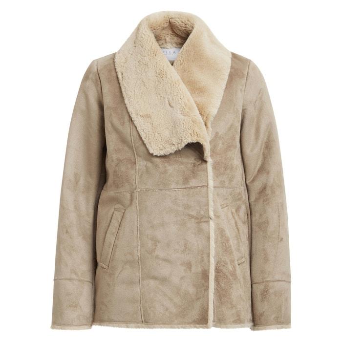 Short Faux Sheepskin Coat  VILA image 0