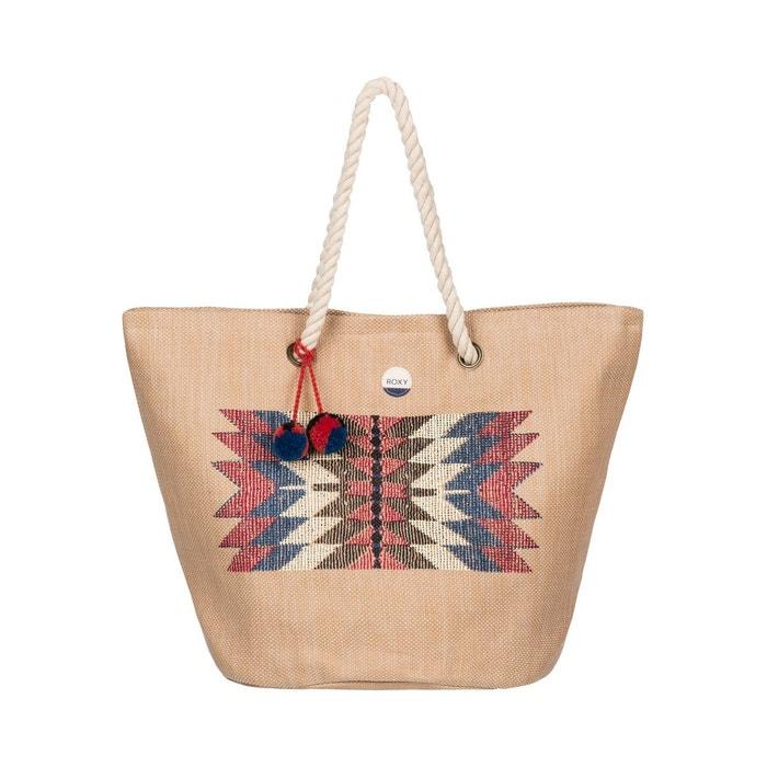 sac de plage en paille sun seeker natural roxy la redoute. Black Bedroom Furniture Sets. Home Design Ideas