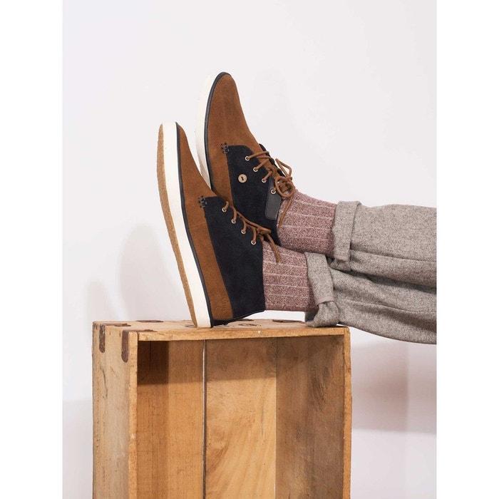 Baskets wattle suede - ultramarine noir Faguo
