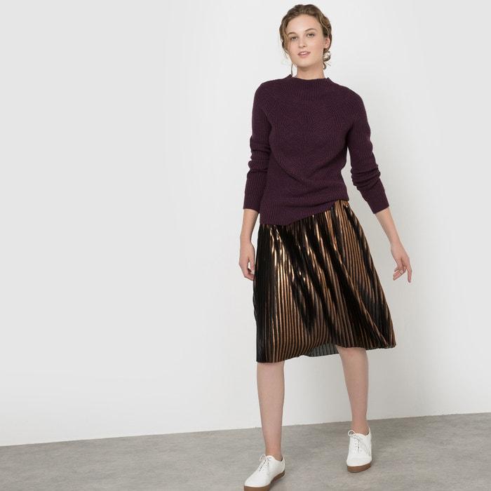 Image MetallicLaméPleated Skirt MADEMOISELLE R