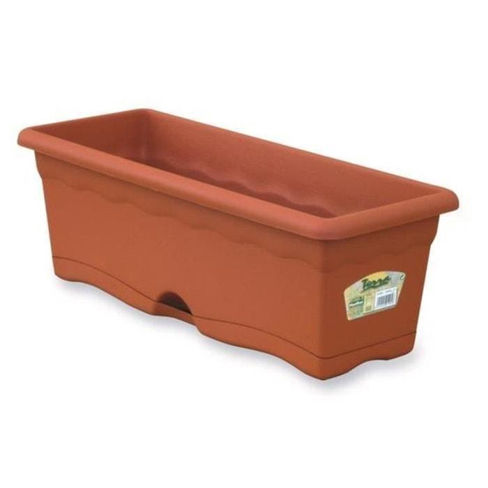 jardiniere avec r serve plastique terracotta 50x20 cm marron philips la redoute. Black Bedroom Furniture Sets. Home Design Ideas
