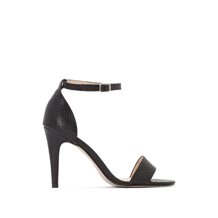 Sandales à talons cuir tomi   noir Jonak   La Redoute