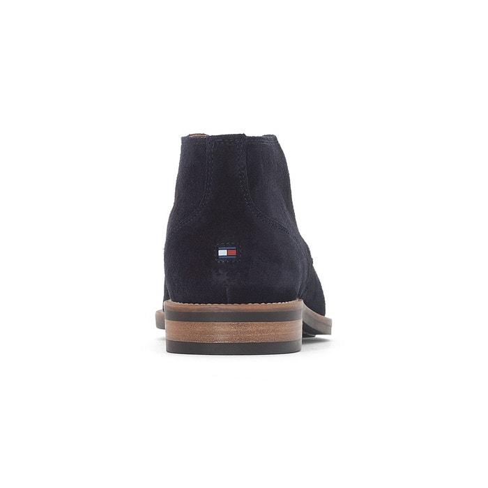 Boots cuir daytona bleu marine Tommy Hilfiger