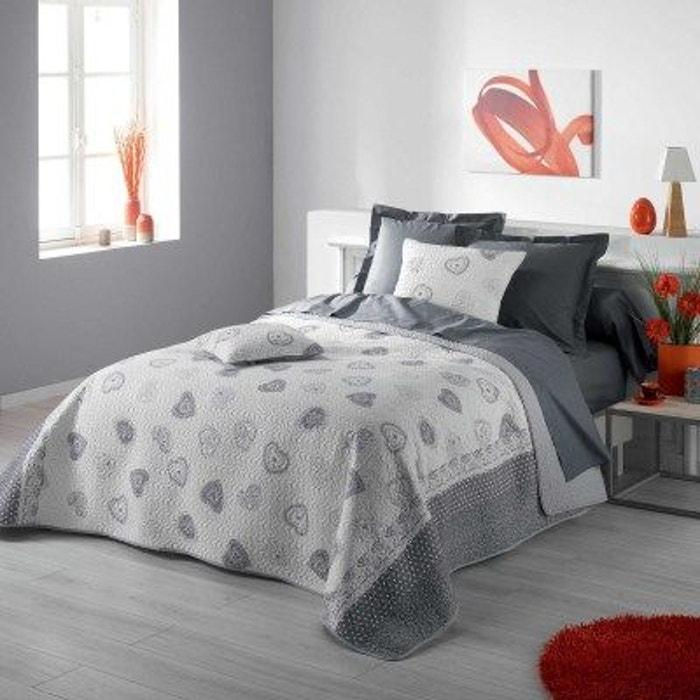 couvre lit matelass 240x220 olympe gris couleur montagne la redoute. Black Bedroom Furniture Sets. Home Design Ideas