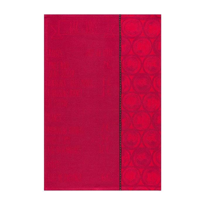 Torchon la carte tanin 70x50 100 coton rouge le jacquard francais la redoute - Torchon jacquard francais ...