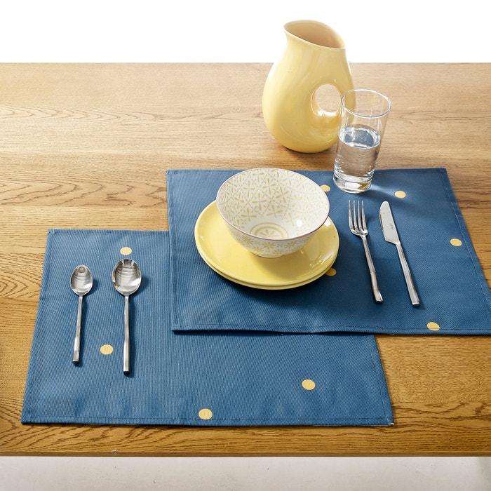 Sets de table polycoton enduit ZINNIA (lot de 2)  La Redoute Interieurs image 0