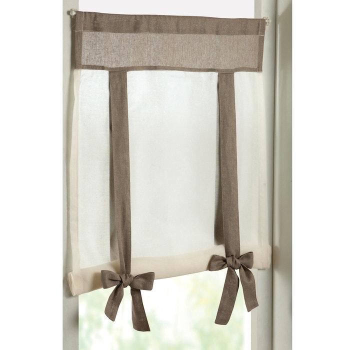 Imagen de Visillo bicolor con jareta para soporte LUIZA La Redoute Interieurs