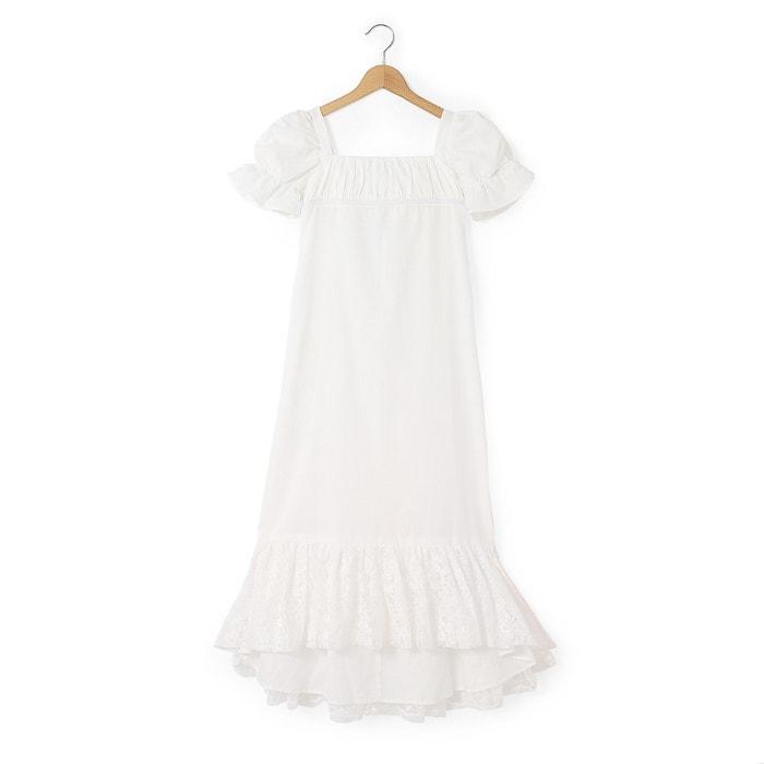 afbeelding Lange ceremonie jurk met geborduurde onderkant abcd'R