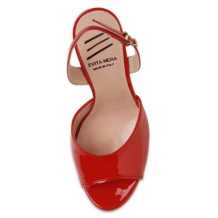 Sandales femme rouge Evita