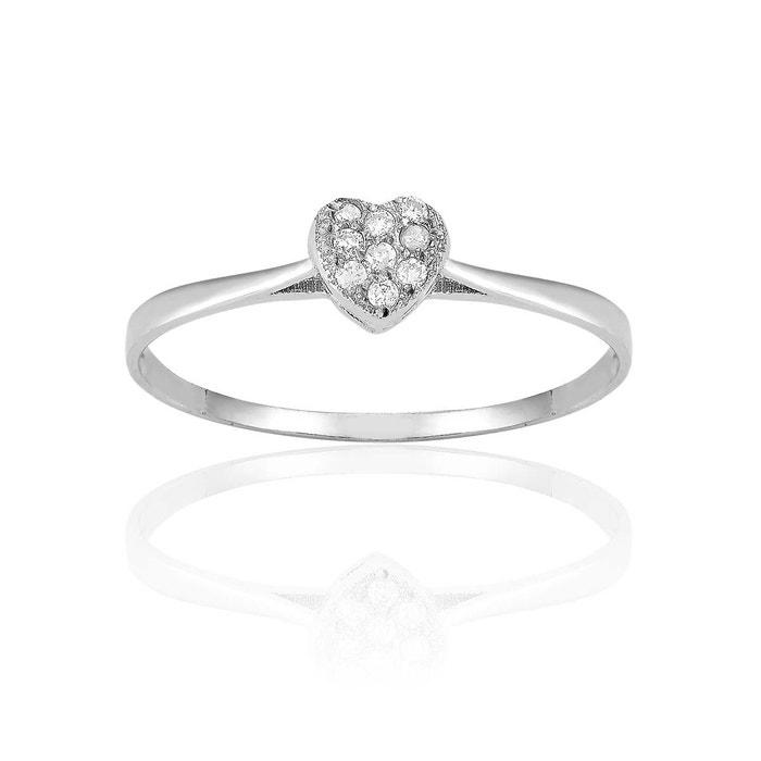Solitaire en or 375/1000 blanc et diamant blanc blanc Cleor | La Redoute officiel Livraison Gratuite En Vente Livraison Gratuite Finishline 6BpBTbvOv