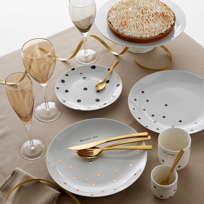 afbeelding Dessertbord in porselein Kubler (set van 4) La Redoute Interieurs