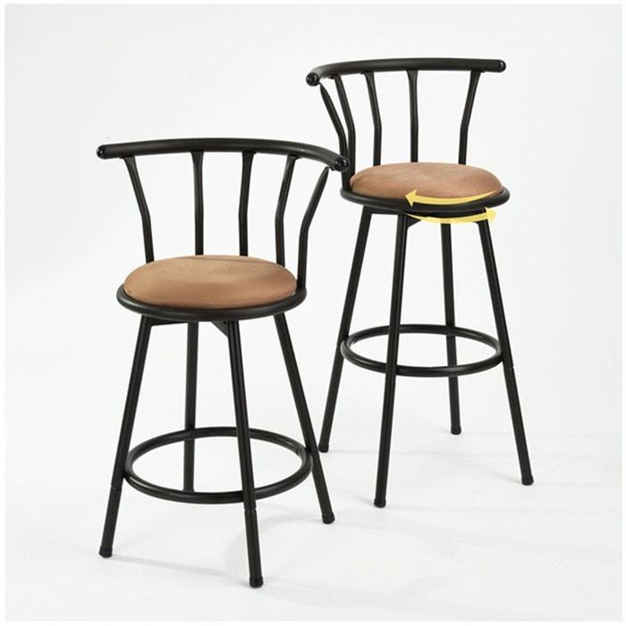 tabouret de bar en m tal style industriel grady lot de 2 noir calicosy la redoute. Black Bedroom Furniture Sets. Home Design Ideas