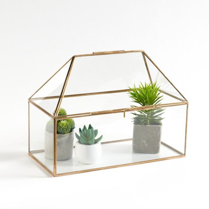 Estufa em vidro e latão Uyova La Redoute Interieurs