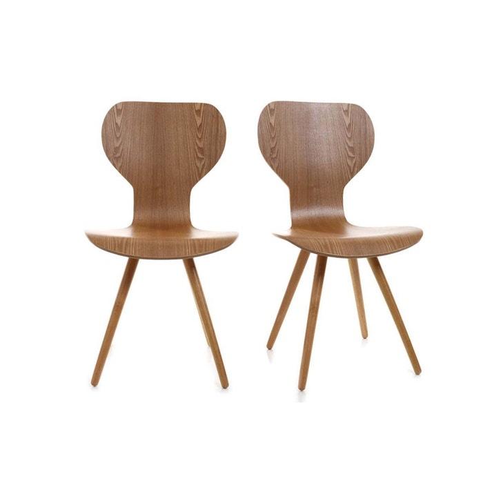Lot de deux chaises style scandinave en nordeco miliboo la redoute - Chaise scandinave la redoute ...