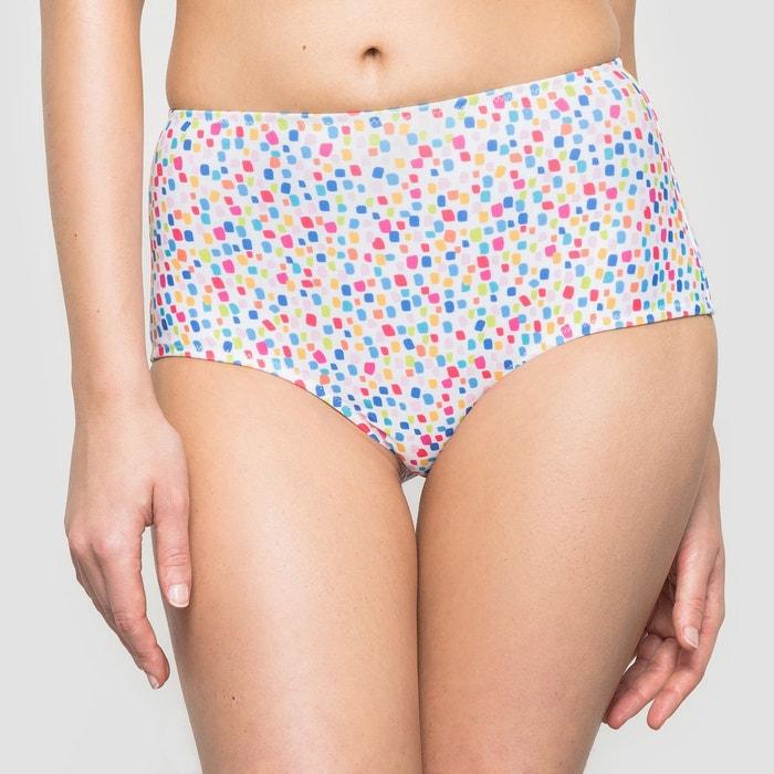 Bas de maillot de bain culotte haute imprimé La Redoute Collections
