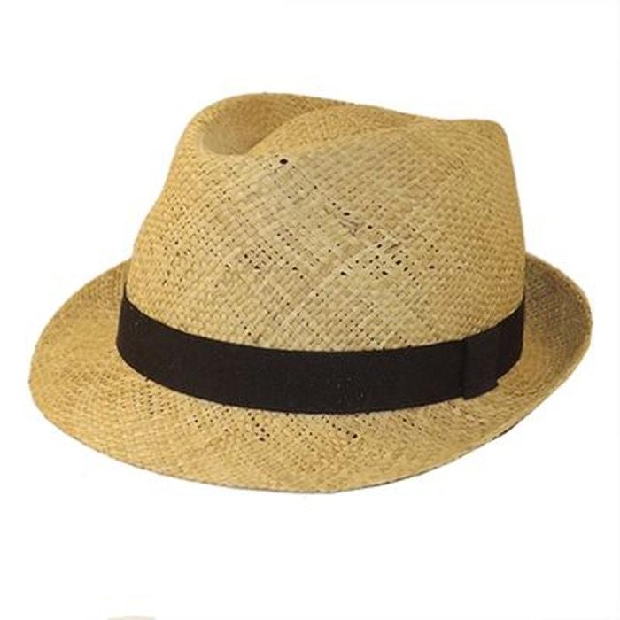 Chapeau trilby homme paille el coco marron Chapeau Sortie D'usine Pas Cher Vente Offres Best-seller En Ligne JVqPlw