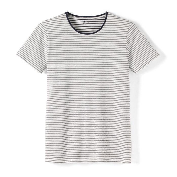 Imagen de Camiseta a rayas de cuello redondo 100% algodón La Redoute Collections