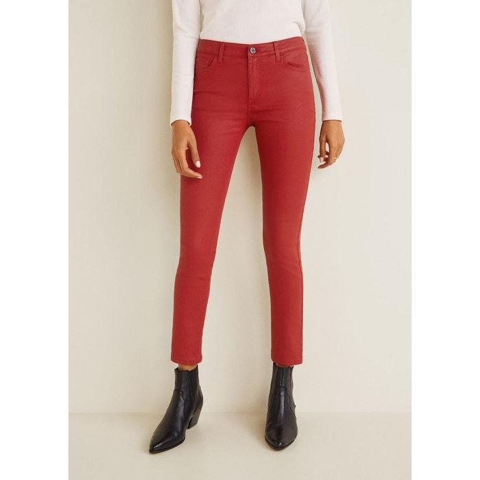 2cb05515a9 Jean skinny belle enduit rouge Mango   La Redoute