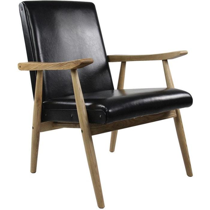 fauteuil vintage aspect cuir alfred zago la redoute. Black Bedroom Furniture Sets. Home Design Ideas