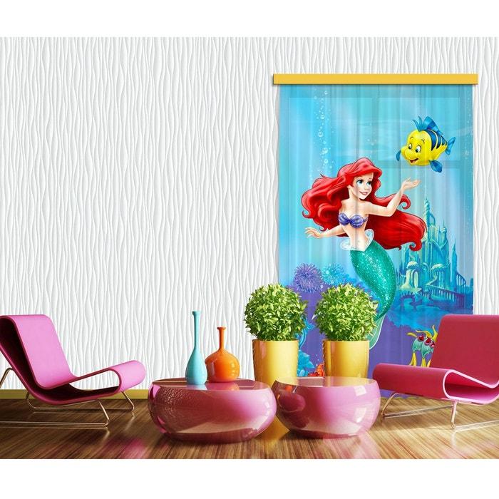 rideaux ariel la petite sir ne disney standard 140x245 cm bleu walltastic la redoute. Black Bedroom Furniture Sets. Home Design Ideas