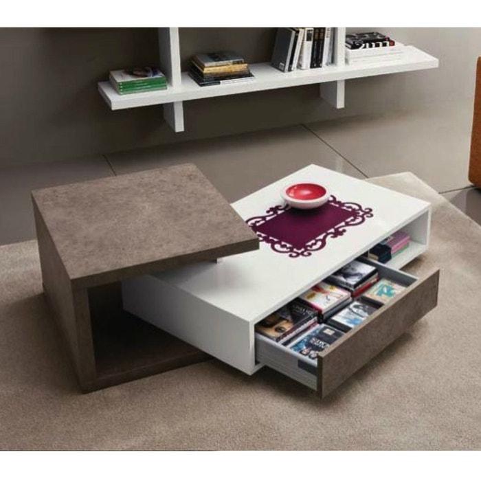 Table basse design mary zendart la redoute for Table exterieur la redoute