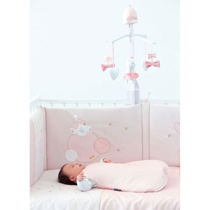 tour de lit mademoiselle 60x120 et 70x140cm rose candide la redoute. Black Bedroom Furniture Sets. Home Design Ideas