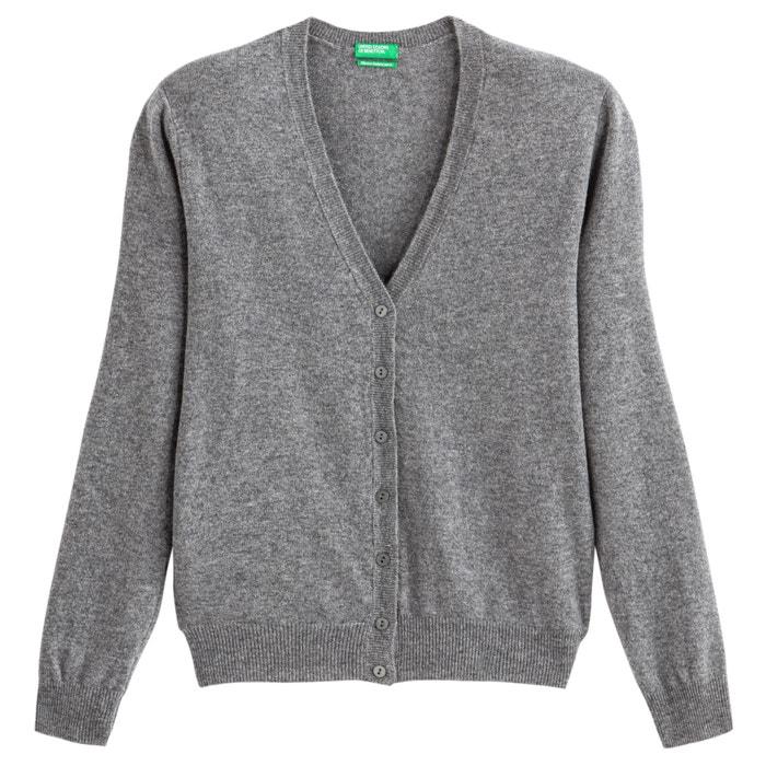 Cardigan pura lana vergine scollo a v Benetton | La Redoute