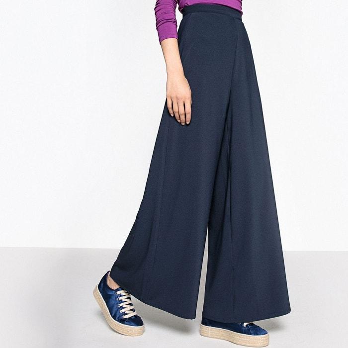 pantalon large taille haute marine la redoute collections