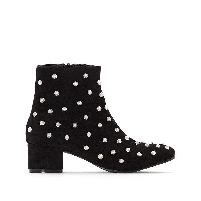 Beaded Ankle Boots with Midi Heel  MADEMOISELLE R image 0