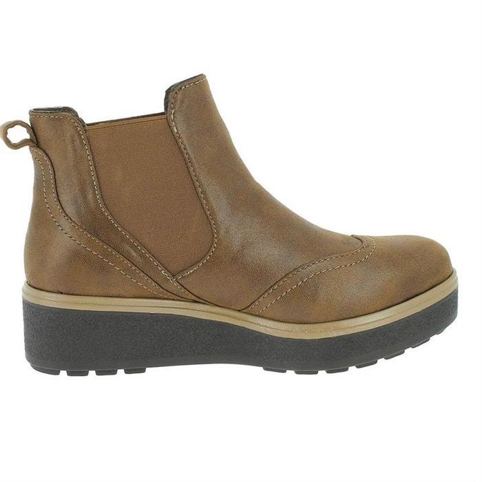 3c09ed2b9ccc0 Bottines   boots synthetique chocolat Lpb Shoes   La Redoute