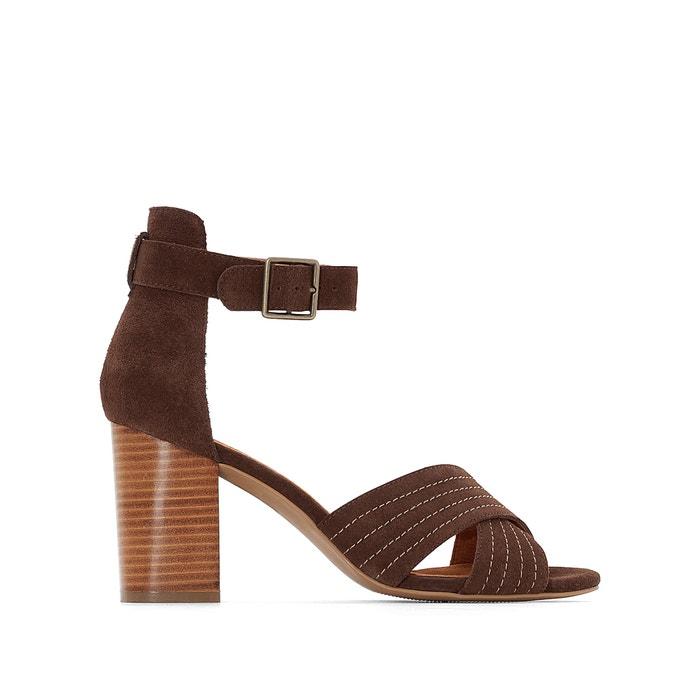 Image Sandales cuir brides croisées La Redoute Collections