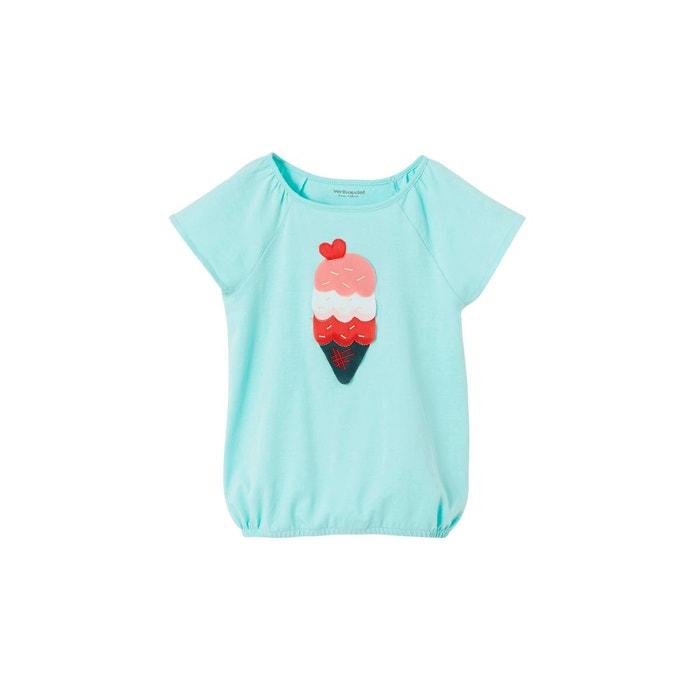 4cf4967da6dde T-shirt fille manches papillon motif glace bleu ciel Vertbaudet | La Redoute