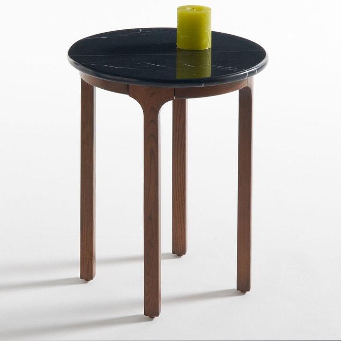 bout de canap rond plateau marbre botello noir la. Black Bedroom Furniture Sets. Home Design Ideas