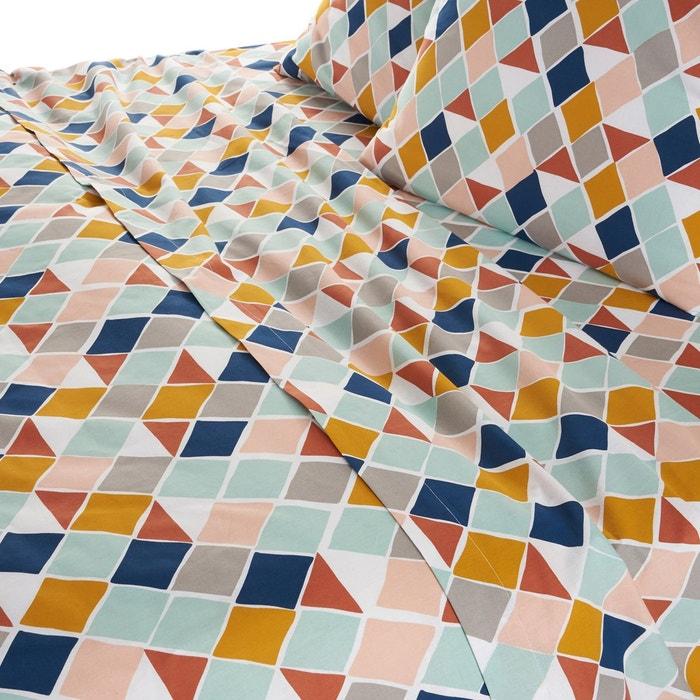 drap plat azule imprim losange la redoute interieurs la redoute. Black Bedroom Furniture Sets. Home Design Ideas