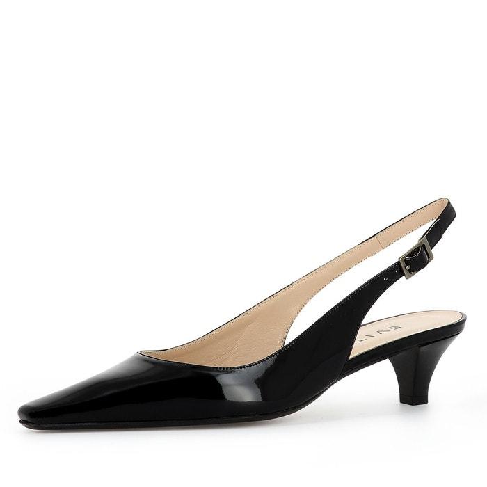 Escarpins sling noir Evita