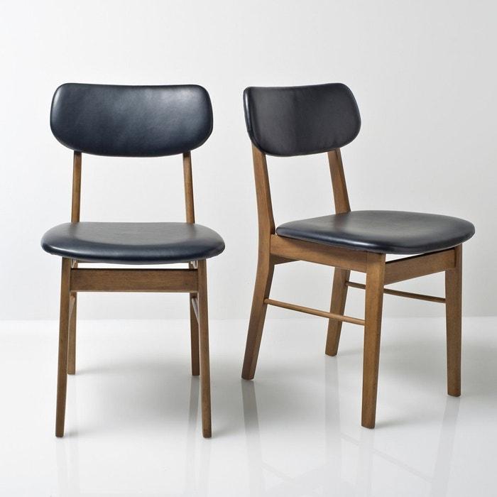 Fabulous chaise vintage lot de watford la redoute - Banc de cuisine avec dossier ...