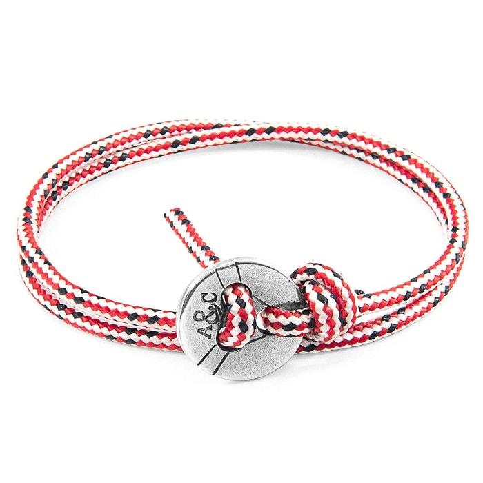 Bracelet lerwick argent et corde rouge rouge Anchor & Crew | La Redoute Choix Prix Pas Cher Meilleures Ventes OORuZ23